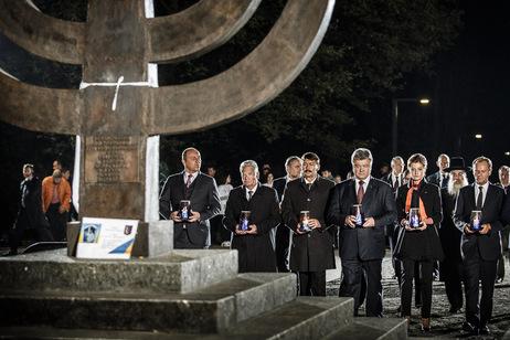 Gedenkveranstaltung zum 75. Jahrestag der Massenhinrichtungen von Babyn Jar in Kiew. Foto: Bundespräsidialamt