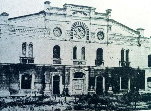 Ansicht der Synagogenfassade, Kovel 1945 © Q. u.