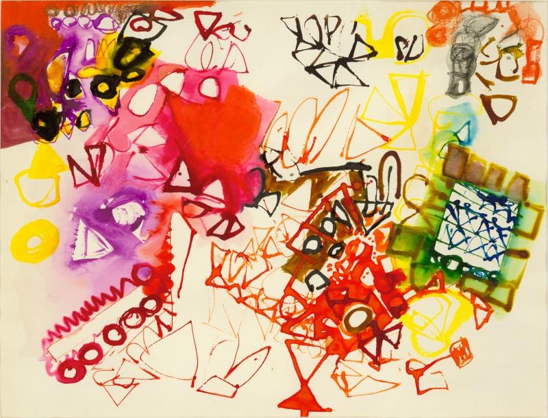 Zeichnung auf Papier. Eva Hesse 1963 © Marcie Begleiter, zVg