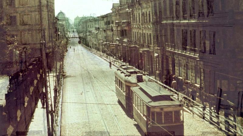 Linie 41-Tram. Historische Foto-Zeichnung © »Linie 41«