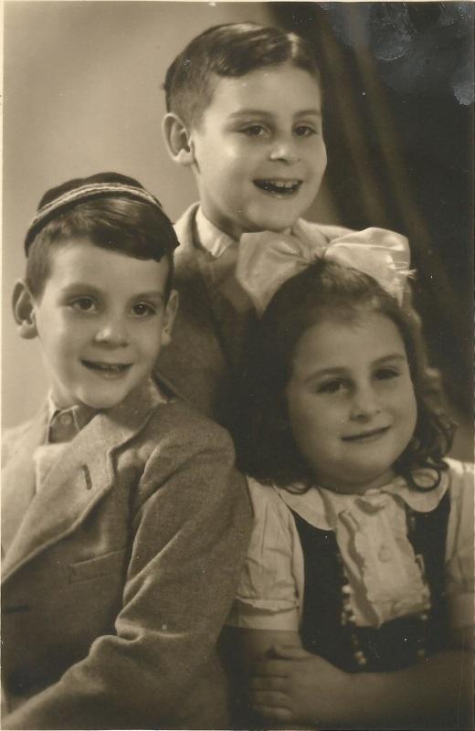 Die Kinder der Familie Packter überlebten; v. l. Naphtalie, Aron Lapidot und Lea Debora © z.V.g