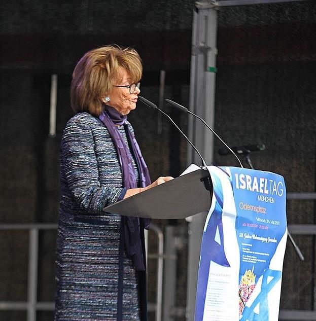 Charlotte Knobloch beim Israeltag in München. Foto: A.R.
