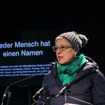 eteiligte sich ebenfalls an der Namenslesung: Regisseurin Doris Dörrie © Marina Maisel