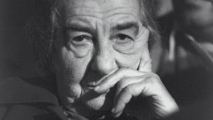 Golda Meir (c) Israeli Government Press Office